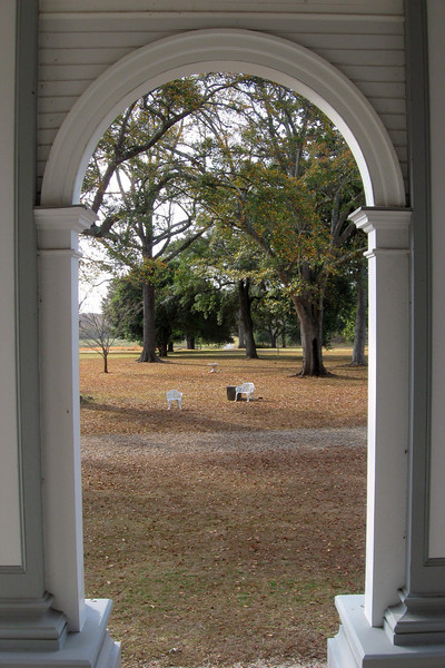 Looking out across the front lawn from the porch...