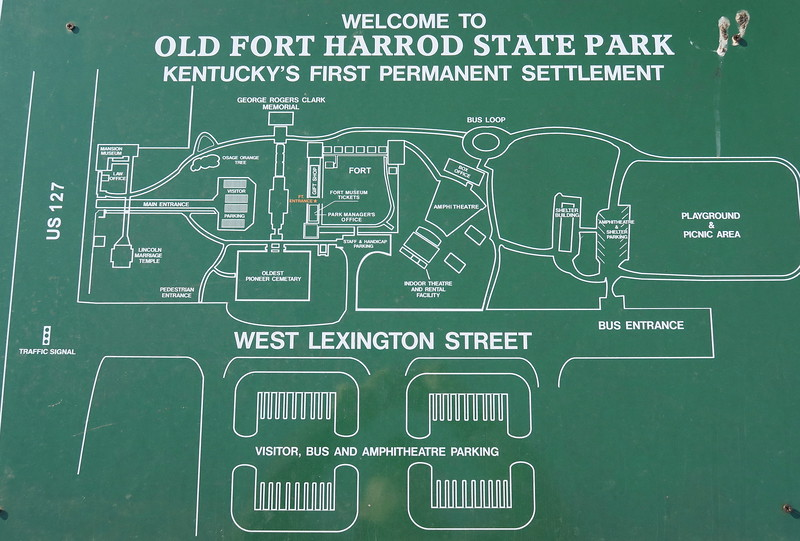 Old Fort Harrod State Park Map