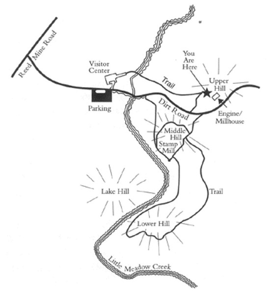 Reed Gold Mine Site Map