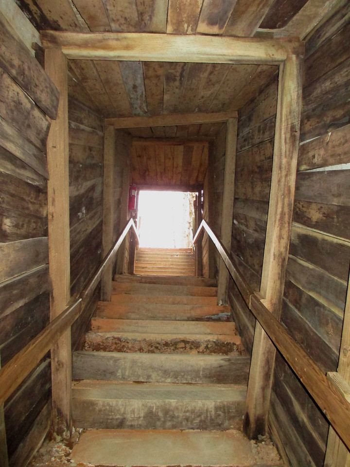 Alas, our time in the mine ended with this stairway into the light...the rest of the tour would be above ground...