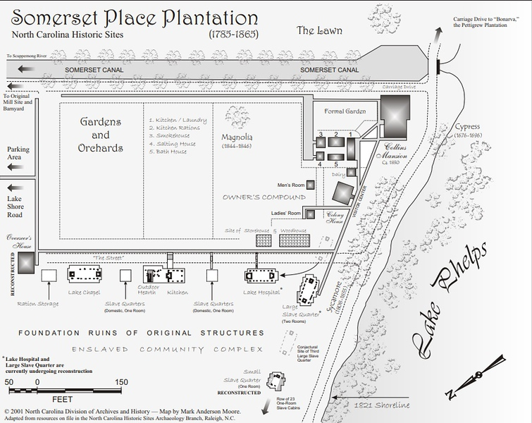 Somerset Place Plantation Site Map