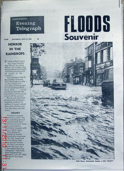 East Lancashire Telegraph Floods Souvenir 1964 July 28 a