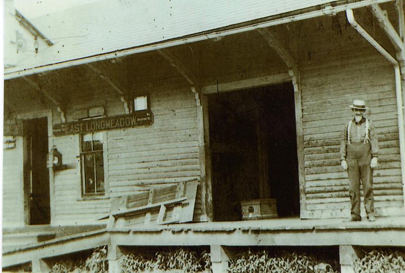 East Longmeadow Railroad Station close-up