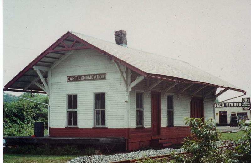 East Longmeadow outside view Railroad station