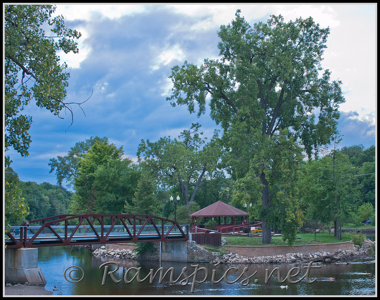 Dusk version of Island Park in Grand Ledge, Summer 2011.