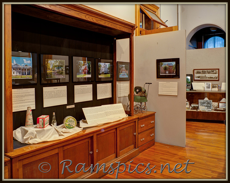 "One of two rooms that contain the ""Historic Sites of Eaton County"" exhibit at the Courthouse Square Museum, Charlotte Michigan 2011."