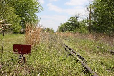Abandoned railroad tracks in North Memphis.