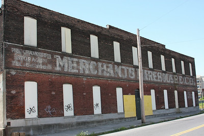 Just south of downtown Memphis, an old Merchants Wareshouse building.