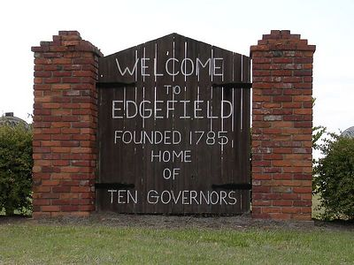 Edgefield, SC City Limit Sign