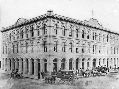1870-1875, Pico House at the Los Angeles Plaza