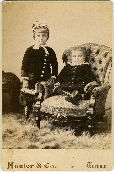 "Page 9<br /> ""Mae & Arthur Foster""<br /> Cabinet Card, Hunter & Co., Toronto<br /> on back ""With love May & Arthur"""