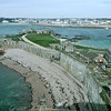 The lower sections and St. Helier in the background