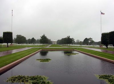 Reflecting Pool at American Cemetary