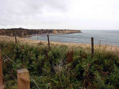 View of Norman Coast from Pont du Hoc