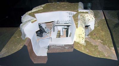 Model of German fortified coastal battery