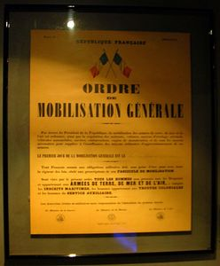 French Military Mobilization Order 1940