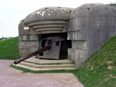 German 88 fortified coastal battery