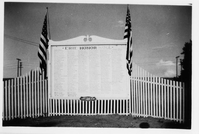 Honor Roll plaque, Erie Colorado