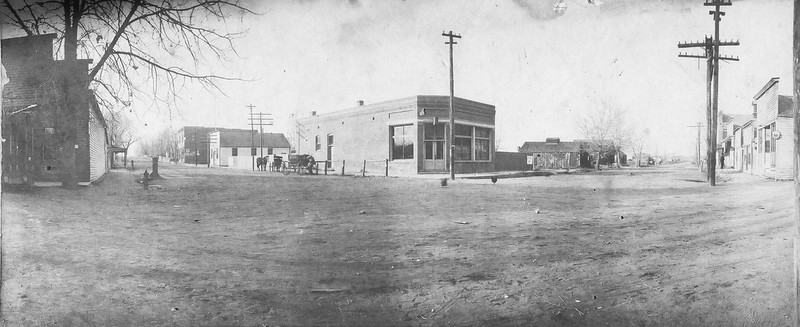 Panorma photo of Briggs Street before 1900