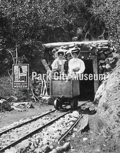 Women in an ore car at a mine, ca.1890-1910 (Image: 1998-6-337, PCHS General Photographic Collection)