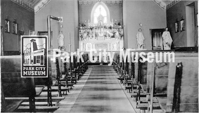 Interior of St. Mary's Catholic Church. circa 1920's. (Image: 2003-23-28, PCHS Photograph Collection)