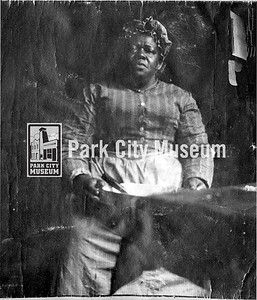 Mrs. Jane Parker, b. 1851 d. 1908.  Park City, UT. Date unknown. Chef, nurse and beloved neighbor. (Image ID: digi-16-91, McDonald Family Photo Collection)