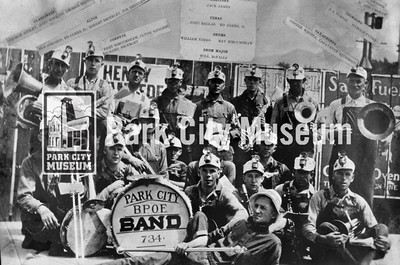 Members of the Park City's Elks club band, n.d. (Image: 1989-26-1, B.P.O.E Collection)