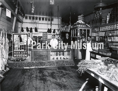 Inside the Smith & Brim grocer, ca.1913 (Image: 2005-27-8, Carrie Vivian Hodgson Collection)