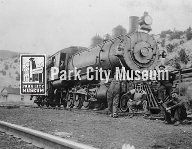 Denver and Rio Grande, 900 class, narrow gauge railroad.  Ran to Park City until the 1940's. Circa early 1900's.  (Image: 1984.102.13, Nan McPolin Collection)