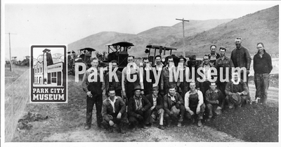 Roadbuilding crew that built the Lincoln Highway, ca.1929 (Image: 1986-14-13, Selma Kilby Collection)