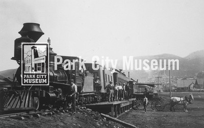 Train at the Utah Central depot, ca.1890-1898 (Image: digi-3-66, Jordanelle Special Service District Digital Collection)