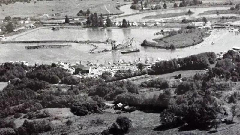 New Warrenton Basin Dredging  Skipinon River Oregon Opened  1958