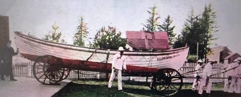 1907 U S Point Adams Station Life Saving Boat  Monamoi  Surf Boat Hammond Oregon Columbia River