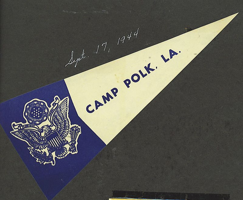 1. After dad's 3rd furlough from July 22- August 4, 1944, he returned to Camp Davis, NC and got ready to move to Louisiana. Mom shows he got to Camp Polk on September 17, 1944.