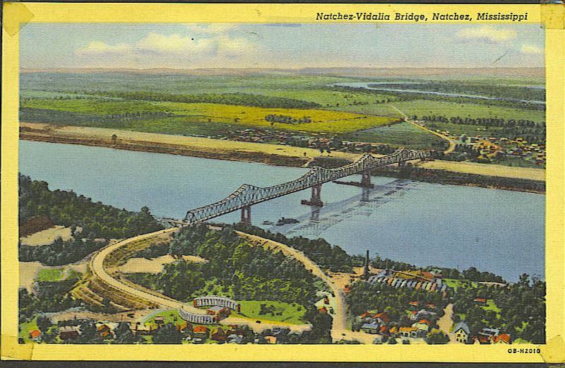 1. Mom and dad drove some colonel's car for the 1,000+ mile trip from Wilmington, NC to Louisiana. They would have driven over this bridge in southern Mississippi, and dad would have crossed it again when he went back into  Mississippi for training at Camp Van Dorn.