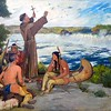 """"""""""" --Father Hennepin at the Falls of St. Anthony-- , Douglas Volk , ca. 1905.<br /> American artist Douglas Volk painted this interpretation of Father Hennepin naming the Falls. The painting now hangs in the Minnesota State Capitol in St. Paul.""""""""<br /> The above image and text credit webpage (accessed 12-dec-2013) ::  <br /> <a href=""""http://www.mnhs.org/school/online/communities/landscapes/FALart1T.htm"""">http://www.mnhs.org/school/online/communities/landscapes/FALart1T.htm</a> <br /> <br /> <br /> ---------------------------------<br /> The following text by John Lienhard credit webpage: <br /> <a href=""""http://www.uh.edu/engines/epi2459.htm"""">http://www.uh.edu/engines/epi2459.htm</a> :<br /> """"""""The Falls had once been the Dakota Indian's sacred cataract Owahmenah -- a wild tumble of water over great limestone rocks. In 1680, Franciscan friar Louis Hennepin named them after St. Anthony of Padua, the patron saint of lost things. Hennepin was the same missionary-explorer who'd brought Niagara Falls to the world's attention. St. Anthony Falls was smaller but still quite beautiful. And it was the only waterfall along the Mississippi."""""""" = (accessed 13-dec-2013)<br /> <br /> - - - - - - - - - -<br /> - - - - - - - - - -<br /> Following text credit: Tim Pugmire - - <a href=""""https://blogs.mprnews.org"""">https://blogs.mprnews.org</a> <br /> <a href=""""https://blogs.mprnews.org/capitol-view/2015/10/capitol-art-debate-turns-to-native-american-images"""">https://blogs.mprnews.org/capitol-view/2015/10/capitol-art-debate-turns-to-native-american-images</a> <br /> """"""""  Capitol art debate turns to Native American images<br /> Tim PugmireTim Pugmire October 11, 2015, 7:00 AM<br /> . . . Lawmakers and historians are scrutinizing Minnesota State Capitol art, including the painting Father Hennepin at the Falls of St. Anthony, by Douglas Volk. Courtesy Minnesota Historical Society.<br /> . . . A group made up of state lawmakers, historians and others is trying to decide how art portraying Native Am"""