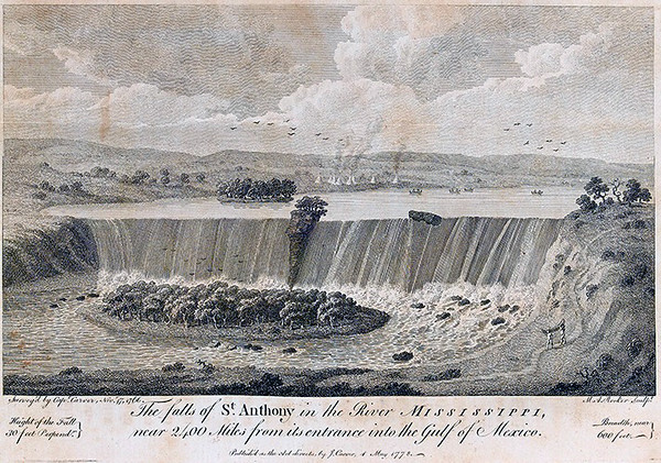 Drawing by Jonathan Carver  --  c.1770