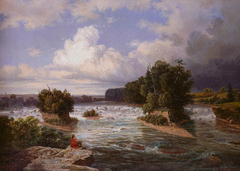 Painting by Henry Lewis  --  1855