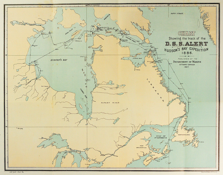 Chart showing the Track of the D.S.S. Alert, Husdon's Bay Expedition 1886, Lieut. A. R. Gordon