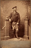 John Gordon, Last of Craigmyle<br /> (1849-1915)<br /> Albumen Print on Cabinet Stock circa 1889<br /> Isaac Wilde, South Beach Blackpool, Lancashire, England<br /> Image Courtesy Keith L. Gordon