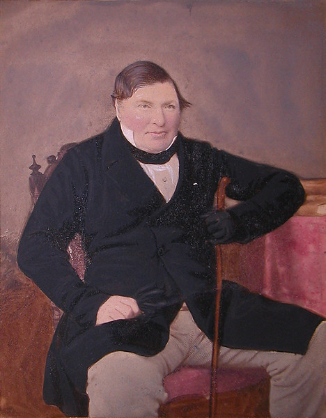 Peter Laing Gordon (1799 - 1866)<br />  Painted Albumen Print, Artist unknown<br /> Courtesy Peter Lockhart Gordon<br /> Circa 1845