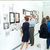 Professor Dan Schroll with student art work
