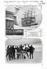 The photos show use of a breeches buoy to rescue sailors from the Hougomont, which grounded in a gale near Saltaire in February 1915.
