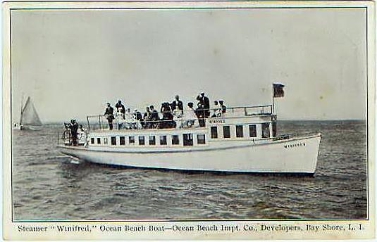 "Steamer ""Winifred"", Ocean Beach Ferry, 1910"