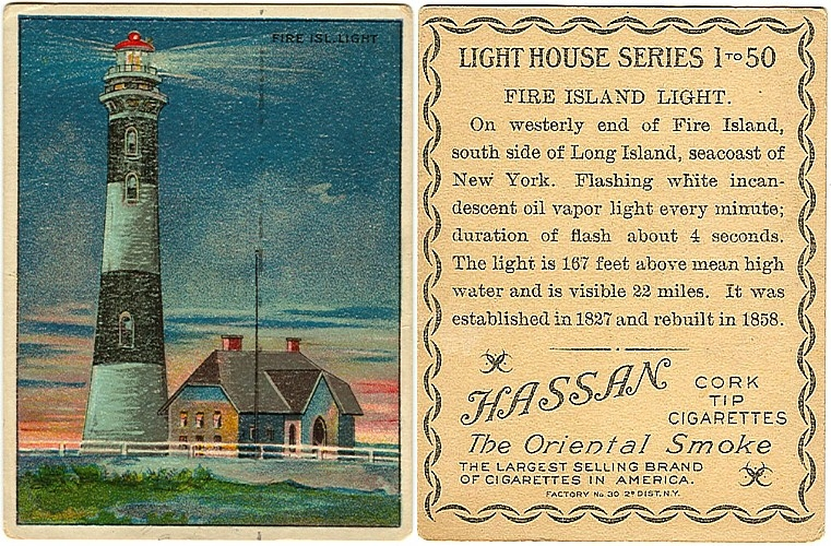 "Hassan cigarette card, ""Lighthouse Series"", 1911"