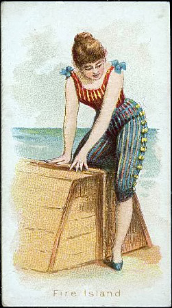 Kimball & Co. cigarette card, Fancy Bathers series, ca. 1889