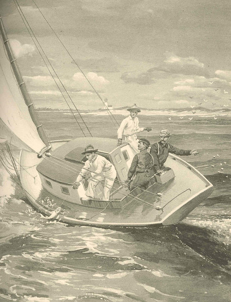"""""""Trolling for Bluefish- Fire Island Inlet"""", 1907<p><i>(Annual Reports of the Forest, Fish and Game Commissioner of the State of New York for 1904-1905-1906, Albany, NY)</i>"""