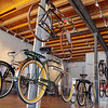 "Iver Johnson bikes hang in the Fitchburg Historical Society on Main Street ready for this weekends ""Fitchburg Rides"" event. SENTINEL & ENTERPRISE/JOHN LOVE"