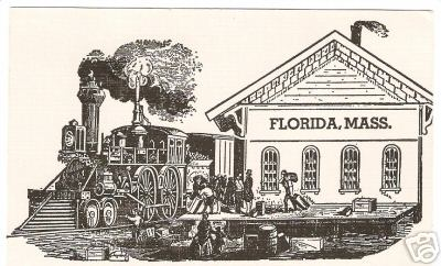 Florida Train Post Card