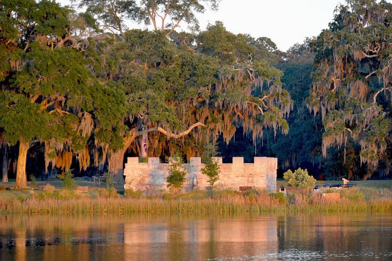 Fort Frederica as seen from the Frederica River on 10-19-10